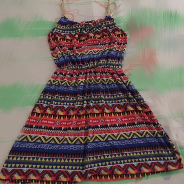 Printed Romper Dress