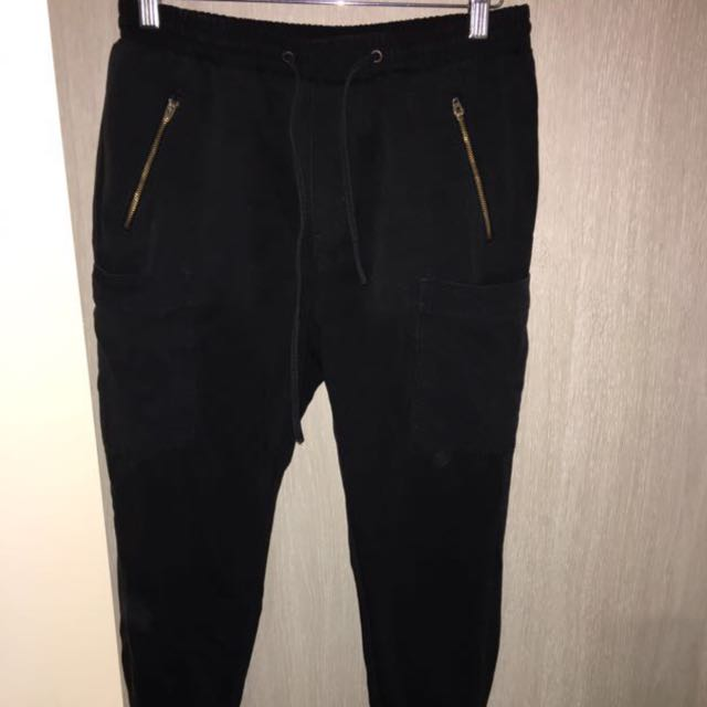 SEED HERITAGE • Black Zipper Cargo Pant • Size 8