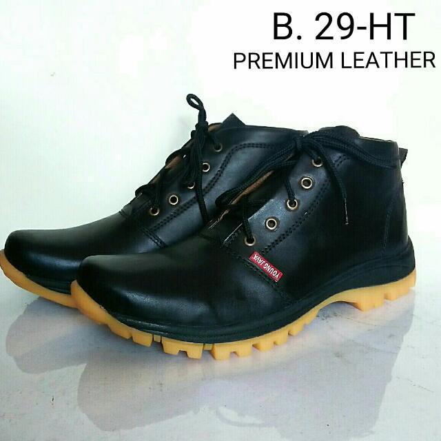 Sepatu Boots Pria Java Young Full Kulit Premium B. 29 (Hitam)