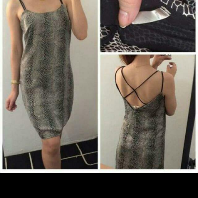 snakeskin pattern dress