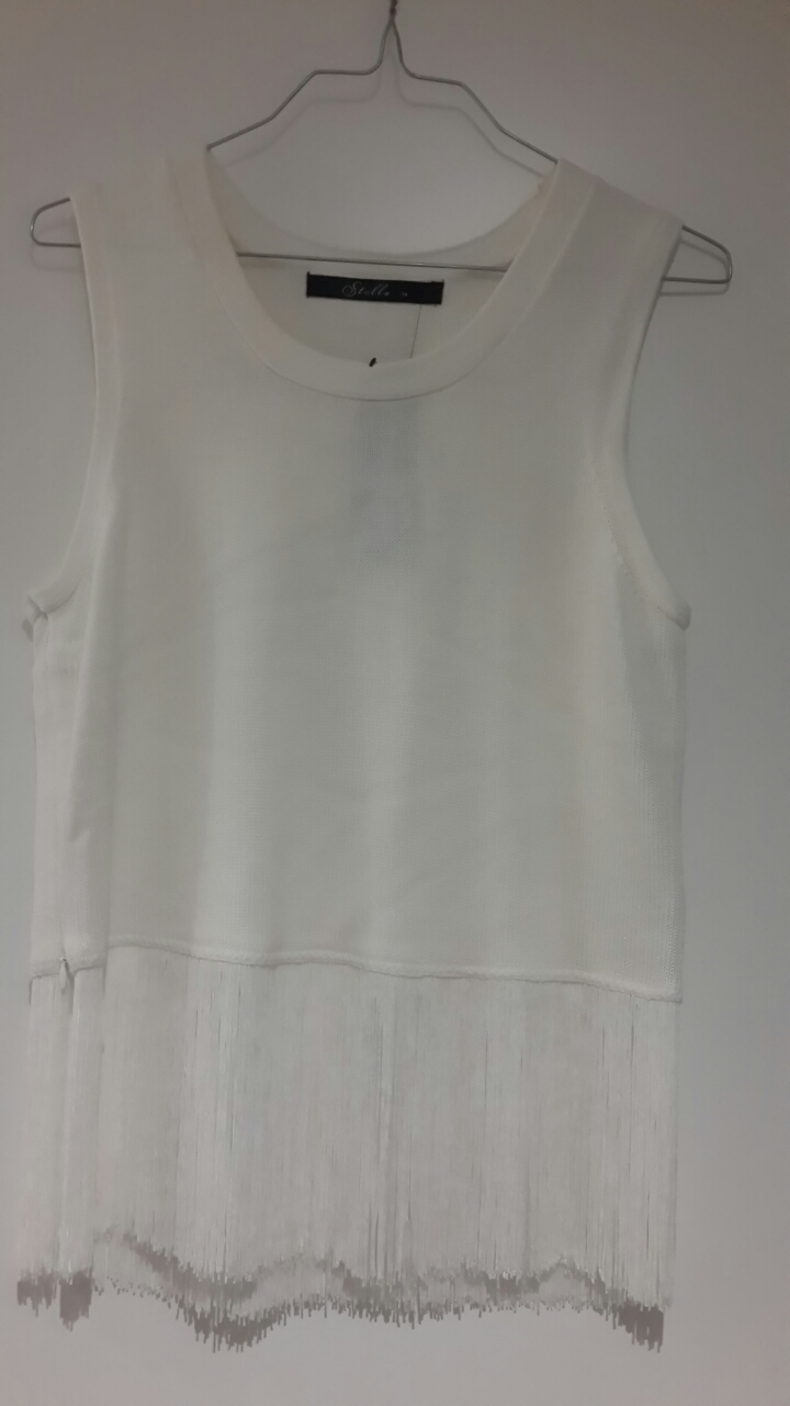 Stella White Tank Top Knitwear size 12 Brand New With Tag RRP$129