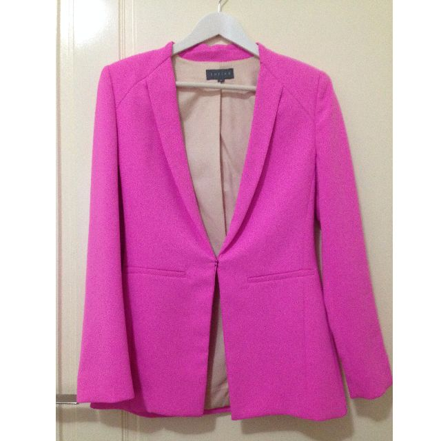 Structured Fuchsia Blazer