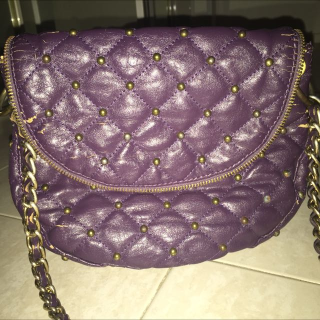 Studded crossbody bag purple