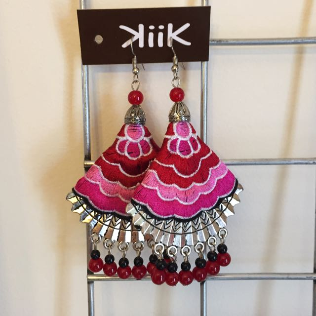 Stunning Embroidered Earrings