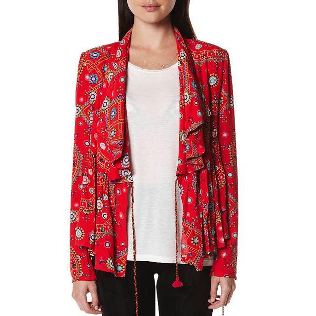 Tigerlily Universe Red Fashion Jacket As Worn By Nina Proudma