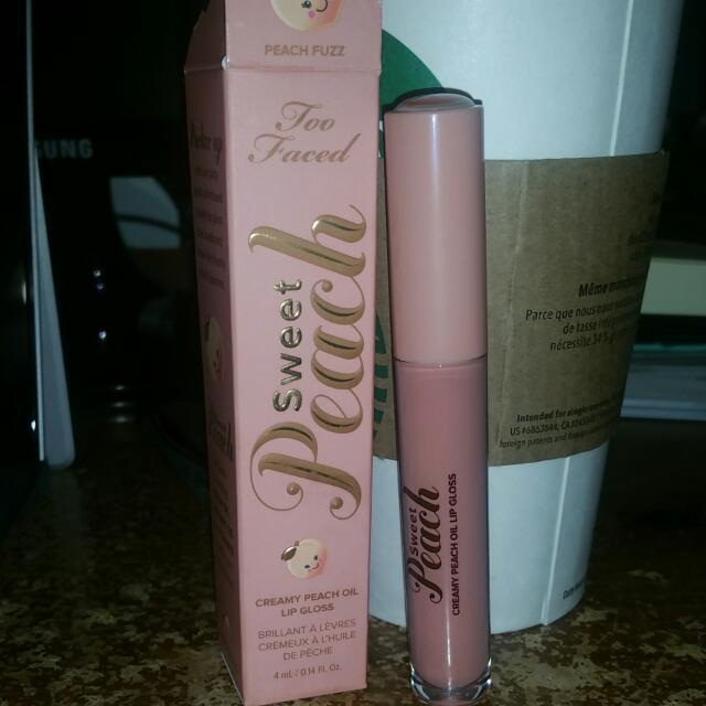 TOOFACED Sweet Peach Creamy Peach Oil Lip Gloss