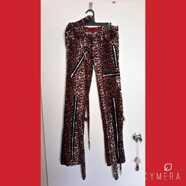 Tripp NYC Leopard print steampunk Gothic punk Pants