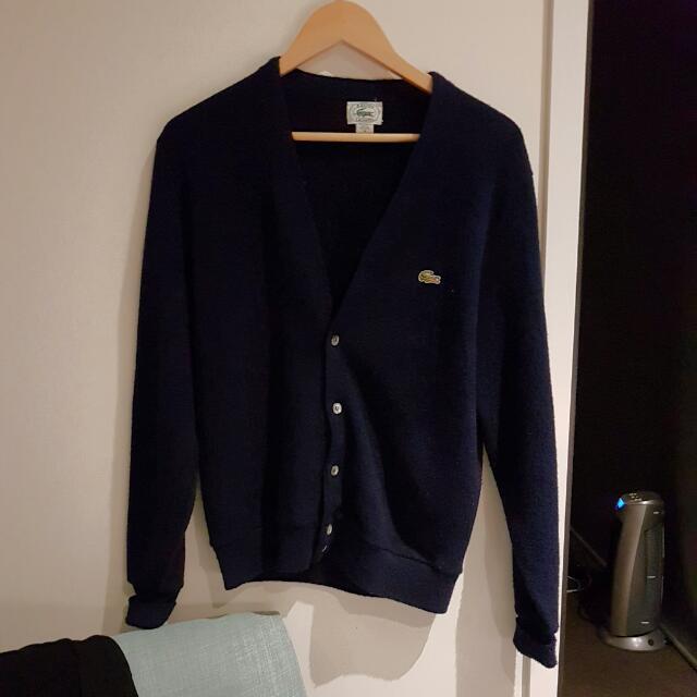 Vintage Lacoste Cardigan (Navy,medium)