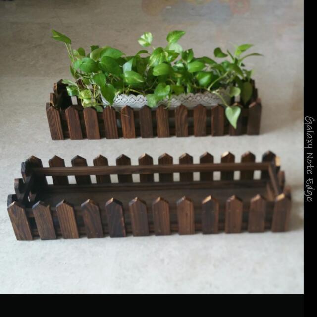 Wooden Plant Box Rectangle Rack