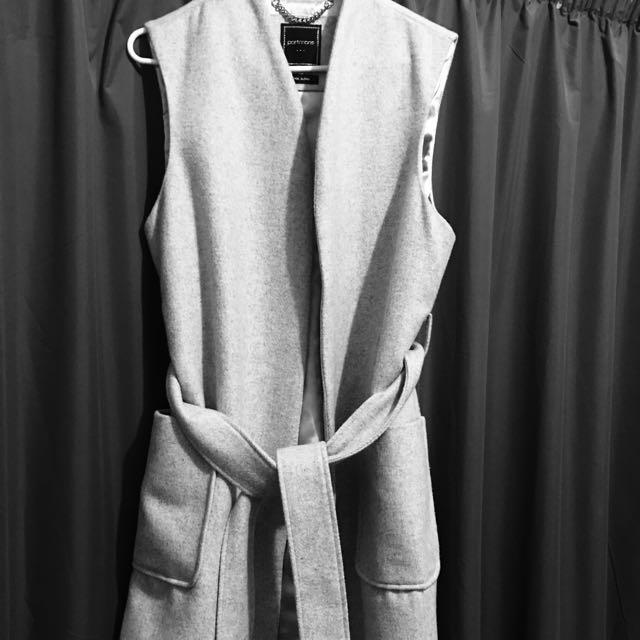 Wool Sleeveless Coat