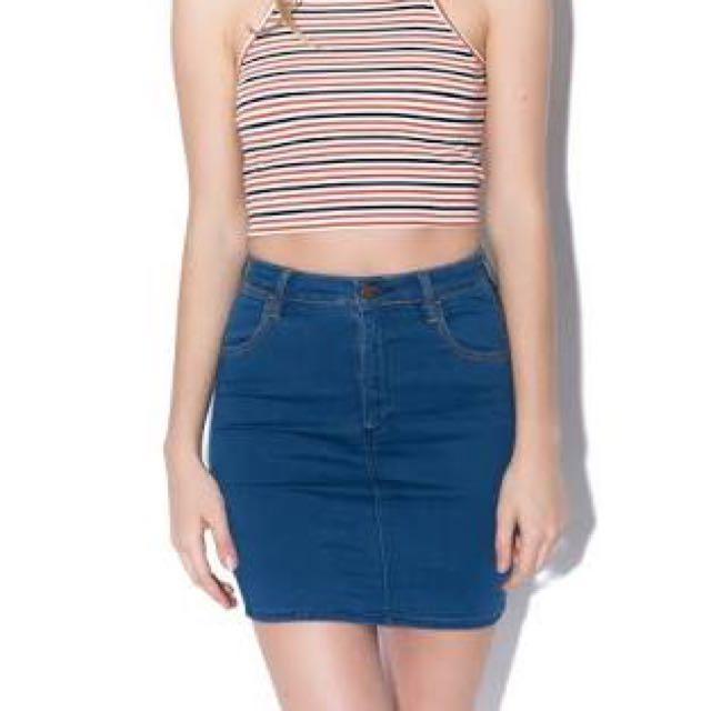 Wrangler Hi Mini Denim Skirt