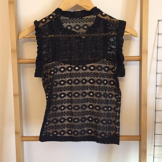 Zara Short Lace Top