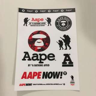 Aape 2017 Stickers Authentic From Store