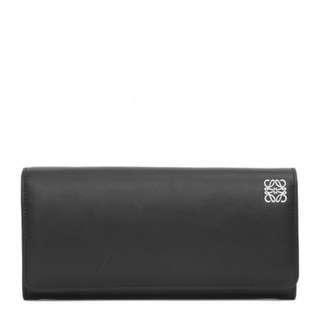 Loewe 羅威 Continental Wallet Black  經典小牛皮 長夾
