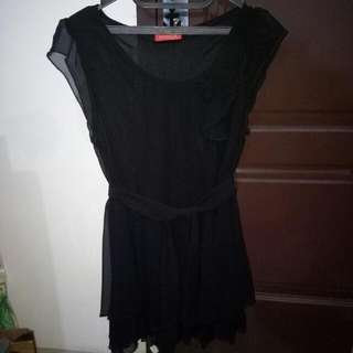 Minni Dress Hitam Pita
