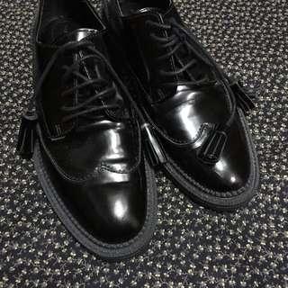 New! Zara Oxfords / Leather Shoes 牛津鞋/紳士鞋/女裝黑色皮鞋
