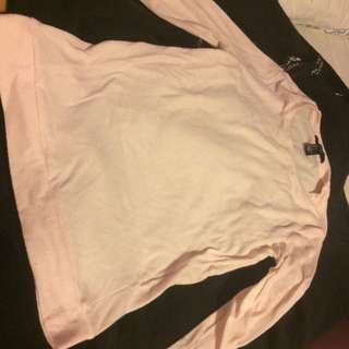 Forever 21 Pink Long Sleeved Shirt