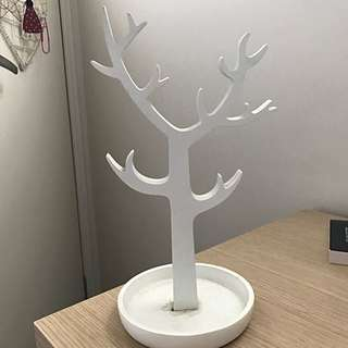 White Wooden Jewellery Tree