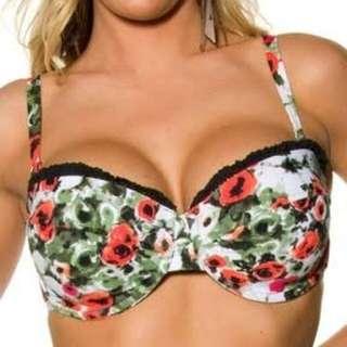 Seafolly Tea Rose Bikini Top