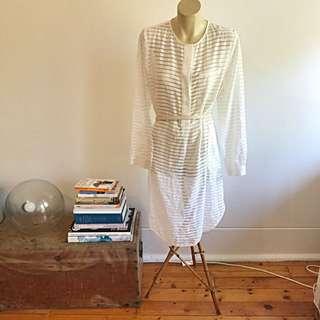 Zimmermann Ribbon Dress In White