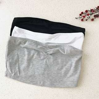 ASOS Bandeau Set Of 3 Grey White Black