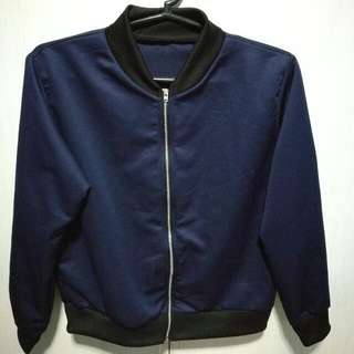 Bomber Jackey (Navy Blue)