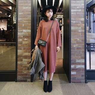 韓版棉質洋裝T