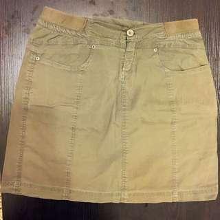 Maternity Skirt, Khaki, Size S