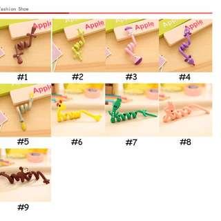 Strip coil winder hub cartoon animals headset bobbin winder