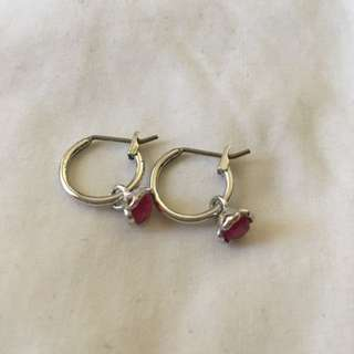 Swarovski Pink Hoop Earrings