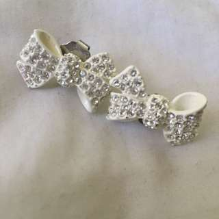 Mimco Crystal Bow Earrings