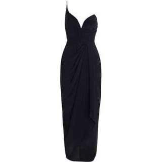 Zimmermann Silk Long One Shoulder Dress - Black