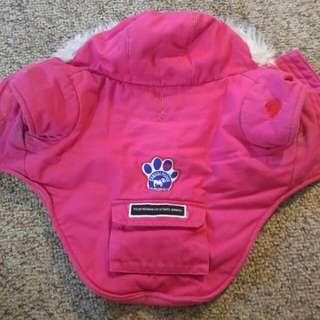 Canada Pooch Pink Dog Parka Size14