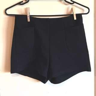 Paper Scissors Black Shorts