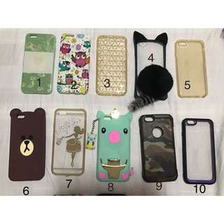 iphone 6 preloved cases once or twice used