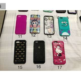 preloved ip6 cases once or twice used