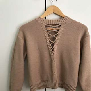 Bec And Bridge Replica Jumper With Cut Outs