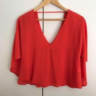 Zara Orange Blouse Top