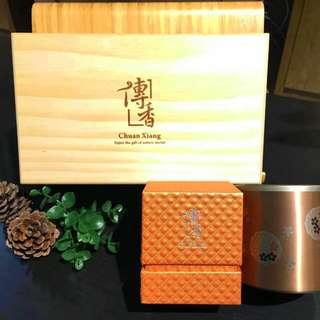 筆藝洋行-送禮首選優選大禹嶺福壽山高山茶葉鈦金鈦杯傳香禮盒