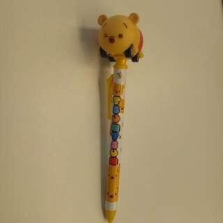 小熊維尼藍色原子筆
