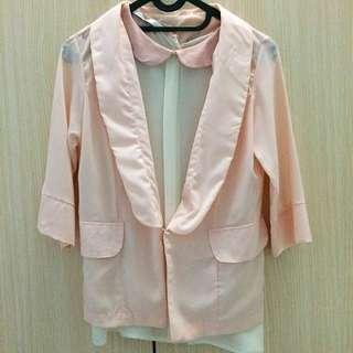 [ONE SET] Blazer + Zara top