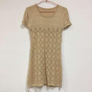 (全新)針織長版毛衣