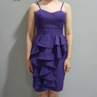XSML purple dress