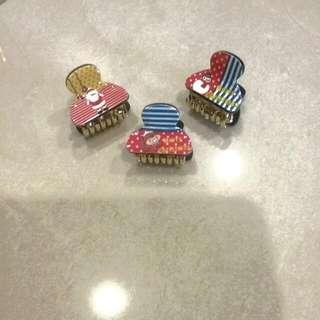 Christmas Hair Clips 3pc Set