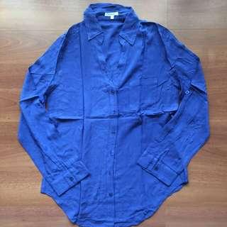 Kemeja Shirt Biru