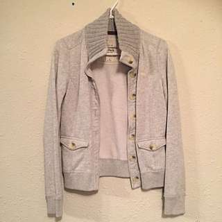 Abercrombie And Fitch Grey Heather Button Down Sweater