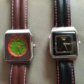 Unique Vintage Seiko 5 Automatic Day Date Watch