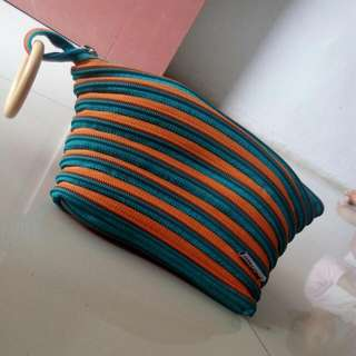 Dompet Cangklong  Orange/tosca