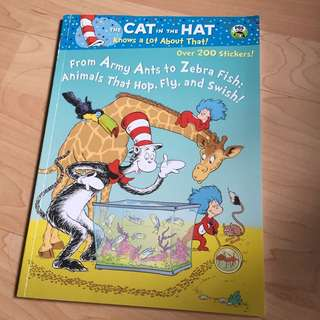 The Cat In The Hat By Dr Seuss Colouring And Sticker Book