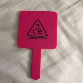 3CE Hand Mirror in Hot Pink